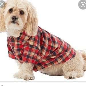 Top Paw Red Plaid Woven Dog Shirt